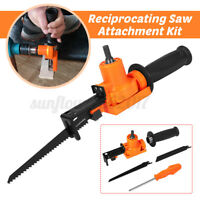 Reciprocating Saw Woodwork Cut Tool Metal Electric Power Drill Attachment Kit AU