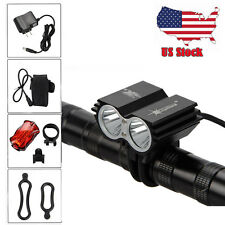 SolarStorm 6000Lm 2xCREE T6 LED Front Bicycle Lamp Bike Light Headlamp US Stock