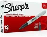 Sharpie Premium Permanent Fine Point Marker Black 30001, 12 each