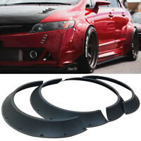 3.2'' + 2.4'' Universal ABS New School JDM Car Fender Flares Wheel Arches 4 Pcs