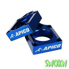 Apico Bloques De Ajuste Eje Trasero Kawasaki Kxf 250 450 04-17 KLX 450 08-14 Azul