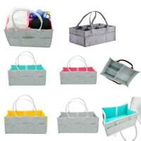 UK Felt Infant Baby Diaper Storage Nappy Nursery Organizer Basket Caddy Wipe Bag