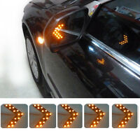Good 2Pcs 14 SMD LED Arrow Panel For Car Rear Mirror Indicator Turn Signal Light
