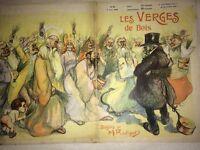 PROSTITUTION -ÉROTISME. REVUE CARICATURES 1903. Les Verges De Bois