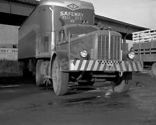 "1940's Hendrickson Road Tractor Semi Truck Rig Safeway Trailer 8""x 10"" Photo 48"