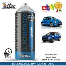 Spray Fiat Alfa Lancia Jeep 599/A Blu Magnetico 400ml !! LUCIDO !!