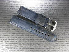 24mm Genuine PYTHON Skin Leather Strap Blue Band Tang Buckle PAM PANERAI