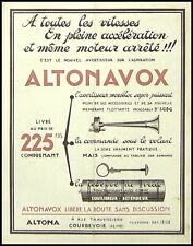 PUBLICITE AVERTISSEUR ALTONA COURBEVOIE  AD 1939  RARE