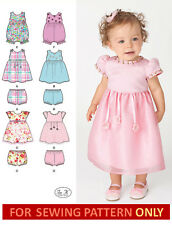 SEWING PATTERN! MAKE BABY DRESS~ROMPER~PANTIES! GIRL PREEMIE~18 MONTHS!