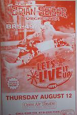 BRIAN SETZER ORCHESTRA POSTER + HandBill 1999 ORIGINAL SAN DIEGO STATE
