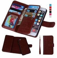 Iphone 7 PLUS leather wallet case / IPhone 8+ / detachable magnetic phone holder
