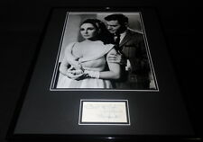 Louis Jourdan Signed Framed 16x20 Photo Display w/ Elizabeth Taylor The VIPs B