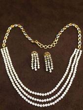 2.70 Cts Round Brilliant Cut Diamonds Necklace Earrings Set In Fine 14Karat Gold