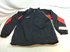 CCM Warm Up Jacket Full Zip Black / Red Youth XL New (AP40) IHH