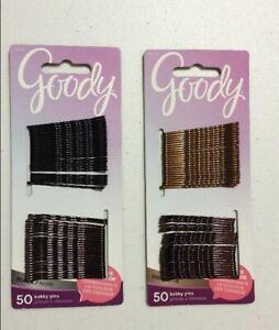 50 Goody Secure Hold Bobby Pins Blacks Choose Shade