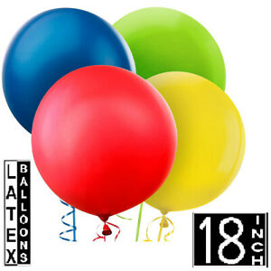 """Small Size Pack of 2 Large/Big Latex Balloons of 18"""" Free Postage Special Price."""