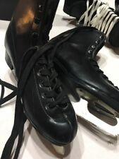 Black Dragon Mens Figure Skates 10 1/3 Rare Good Condition