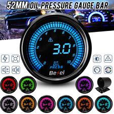 2'' 52mm 0-10Bar Oil Pressure Gauge Kit Meter + Sensor Meter Digital LED Car