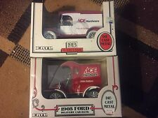 1992 Ertl 1913 Ace Hardware Truck & 1993 Ertl 1905 Ace Hardware Truck 1:25 Scale