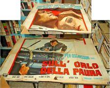 SULL'ORLO DELLA PAURA manifesto 4F originale 1968 HARVEY COURTENAY
