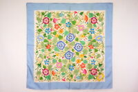 Old GUCCI 86cm Vintage Large Scarf 100% Silk Morning Glory Floral Blue 4328k