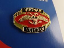 "BRAND NEW Lapel Pin VIETNAM VETERAN 1959-1975 Red Enamel 1 1/8"""