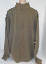 WOOLRICK 1/3 Zipper Front Thermal Sweatshirt Pullover Shirt Jacket XL Army Green