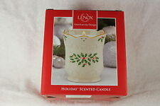 Lenox 5OZ Holiday scented candle, Gold trimmed, NIB
