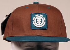 ELEMENT FENWICK CHESTNUT MENS SKATEBOARD NEW FITTED HAT CAP SIZE S/MD