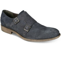 $120 KENNETH COLE REACTION MENS NAVY SUEDE DOUBLE MONK STRAP SHOES LOAFERS 9 M