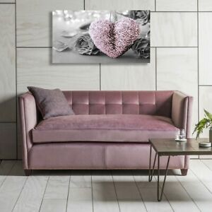 HOME PINK HEART AND FLOWER DECOR ART CANVAS PRINT WALL PICTURE Painting 40*80cm