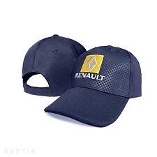 RENAULT Carbone Bleu marine Casquette de baseball Logo Brodé Réglable Chapeau Voiture Sport