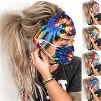 Frauen binden Farbstoff Stirnbänder Maske Gesichtsschutz Gesichtsbedeckung h