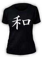 Pace T-Shirt Giapponese Kanji Simbolo Donne Ragazze