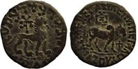Copper Hexachalkon Coin of Azes II of Indo Scythians, Extra Fine