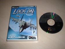 LOCK ON ~ AIR COMBAT SIMULATION PC GAME UBISOFT PC CD-ROM UBISOFT