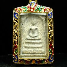 Rare Phra Somdej Toh Wat Rakhang Buddha ,Phim Yai ,Real Silver casing #3