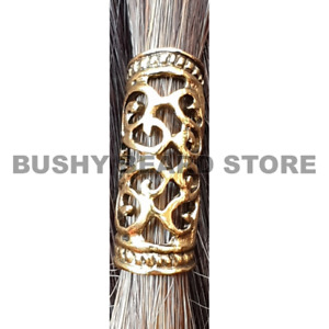 Gold Viking Beard Bead Dreadlock Cuff Hair Beads Jewellery Celtic tibetan