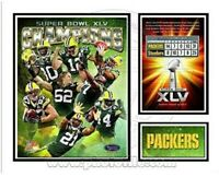 """Green Bay Packers Super Bowl XLV Custom Matted Photo Collage (Size: 11"""" x 14"""")"""