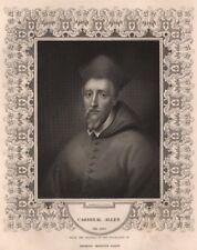BRITISH HISTORY. Cardinal Allen. TALLIS 1853 old antique vintage print picture