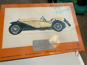 Vintage Original Pocher 1932 Alfa Romeo Spider Touring Gran Sport Model Kit 1:8