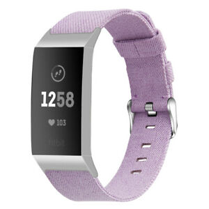 Replacement Strap for Fitbit Charge 3 & 4 Woven Nylon Secure Band Metal Schnalle