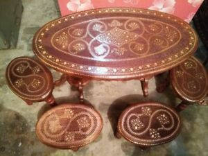 Table - sets of 5 Pcs,Wooden with very Fine works.