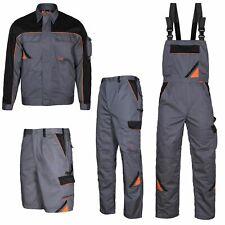 Arbeitshose Latzhose Arbeitsjacke Arbeitsshorts Berufskleidung grau Größe 44-64