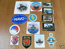 STICKER,DECALS SET ARMY,LEGER,LAND/LUCHT LOT OF ABOUT 15 STICKERS SEE PICTURES