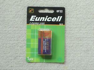 1 x Eunicell Heavy Duty 9V battery 6F22 carbon-zinc  smoke alarm batteries