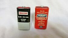 VINTAGE EVEREADY &  MALLORY TRANSISTOR BATTERIES