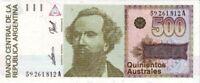 Argentine - Argentina billet neuf de 500 australes pick 328b UNC