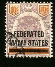 1900 Tiger Malaya Negri Sembilan 10c Used Stamp Overprinted Federated Malay Stat