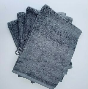 Cotton Bamboo Face Cloth Wash Mitt Towel Glove Pack of 2 or 4 Soft Absorbent